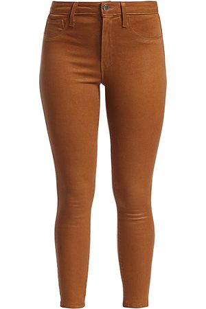 L'Agence Women's Margot High-Rise Ankle Skinny Coated Jeans - - Size 32 (12)