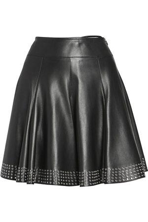 Alaïa Women's Leather Studded A-Line Skirt - - Size 36 (2-4)
