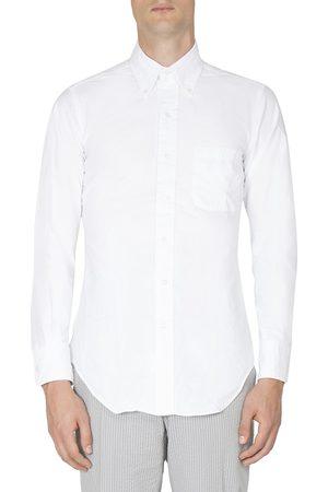 Thom Browne Men's Solid Button-Down Shirt - - Size 2 (Medium)