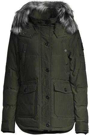 Moose Knuckles Women's Fox Fur-Trim Jacket - - Size Large
