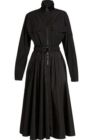Moncler Women's Belted Zip Stand-Collar Shirtdress - - Size 42 (6)