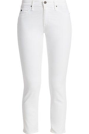 AG Jeans Women's Prima Sateen Mid-Rise Crop Cigarette Pants - - Size 31 (10)