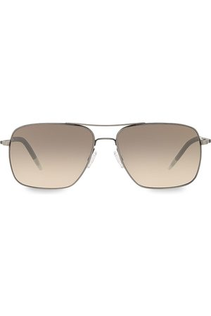 Oliver Peoples Men's Clifton 58MM Aviator Sunglasses