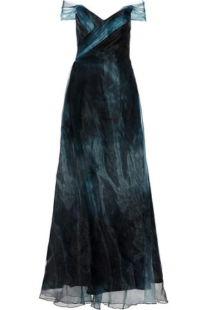 Rene Ruiz Collection Women's Off-The-Shoulder Organza Gown - - Size 18