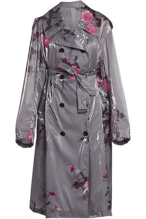 DRIES VAN NOTEN Women's Floral Trench Rain Coat - - Size XS