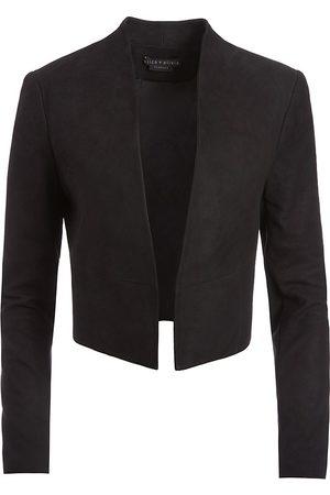 ALICE+OLIVIA Women's Harvey Suede Combo Jacket - - Size Medium