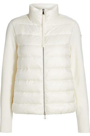 Moncler Women's Short Down Knit Combo Jacket - - Size XL