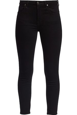 7 for all Mankind Women's Mid-Rise Ankle Skinny Jeans - - Size 32 (12)