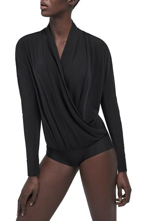Wolford Women's Shannon Surplice Long-Sleeve Bodysuit - - Size XS
