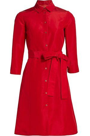 Carolina Herrera Women's Bracelet Sleeve Silk Shirt Dress - - Size 10