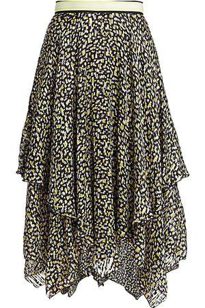 ALICE+OLIVIA Women's Tarina Geometric Print Handkercheif Hem Skirt - - Size 4
