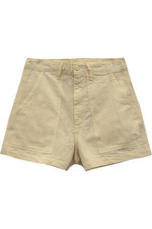 NSF Women Shapewear - Women's Sabine Patch Pocket Shorts - French Vanilla - Size 27