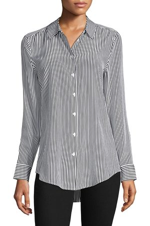 Equipment Women's Essential Striped Silk Blouse - - Size Large