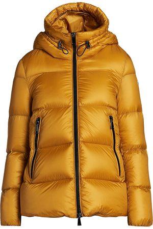 Moncler Women's Seritte Metallic Down Puffer Jacket - - Size 5 (XXL)