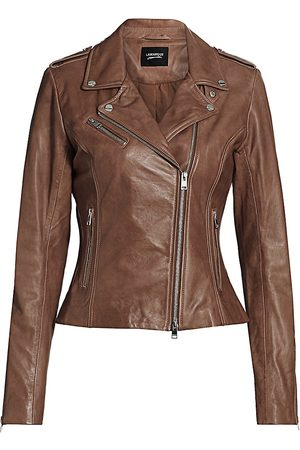 LaMarque Women's Harper Leather Moto Jacket - - Size Medium