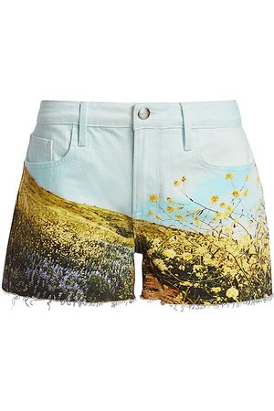 Frame Women's Le Grand Garson Field Print Shorts - - Size 25 (2)