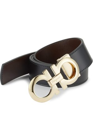 Salvatore Ferragamo Men's Adjustable & Reversible Gancini Buckle Belt - - Size 42