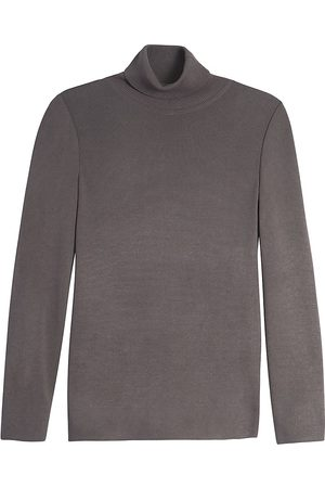 Misook Women's Long-Sleeve Knit Turtleneck - Slate - Size Medium