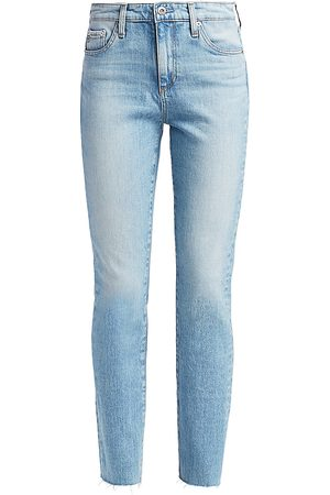 AG Jeans Women's Mari High-Rise Slim Straight Jeans - - Size 29 (6-8)
