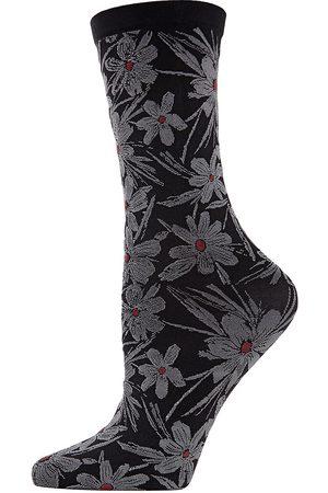 Natori Women's Floral Crew Socks