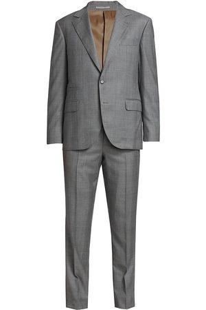 Brunello Cucinelli Men's Gallas Plaid Wool Suit - - Size 60 (50)