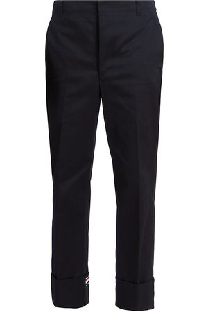 Thom Browne Men's Straight-Leg Cuffed Trousers - - Size 4 (37-38)