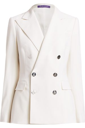 Ralph Lauren Women's Camden Double Breasted Stretch Wool Jacket - - Size 6