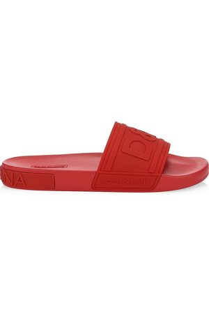 Dolce & Gabbana Men's Saint Barth Rubber Slide Sandals - - Size 39 (6)