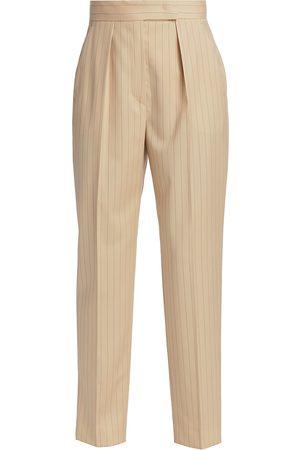 Max Mara Women's Pinstripe Cigarette Pants - - Size 2