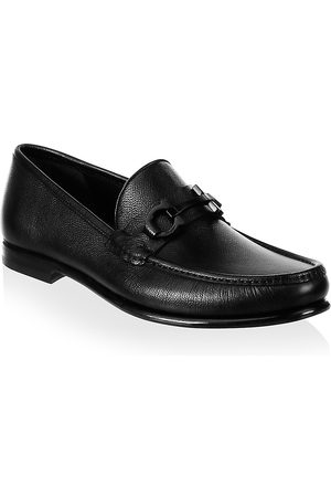 Salvatore Ferragamo Men's Crown Gancini Bit Leather Loafers - - Size 6.5