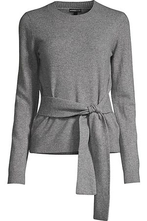MINNIE ROSE Women's Cashmere Tie-Waist Knit Sweater - - Size Large