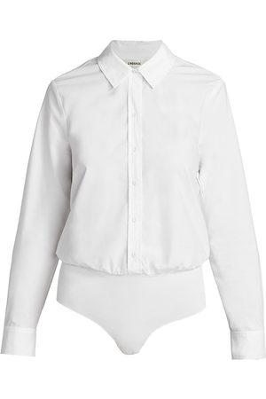 L'Agence Women's Blake Button-Down Bodysuit - - Size Medium