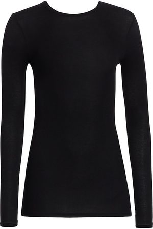 ATM Anthony Thomas Melillo Women's Micro-Ribbed Crewneck Top - - Size Small