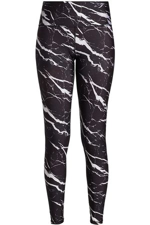 Terez Women's Super High Marble Print Leggings - - Size Large