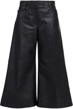 Stella McCartney Women's Charlotte Faux-Leather Trousers - - Size 50 (16)