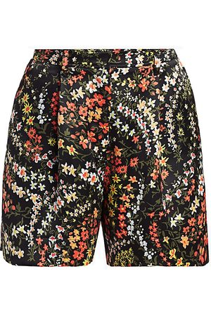 ATM Anthony Thomas Melillo Women's Floral Printed Satin Shorts - - Size 2