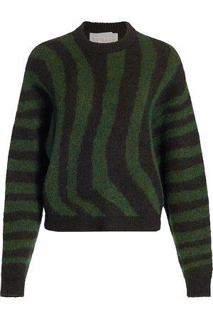 REMAIN Birger Christensen Women Hoodies - Women's Cami Wave Stripe Sweater - Deep Depths Combo - Size 6