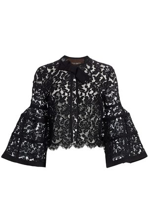 Carolina Herrera Women's Icon Bell Sleeve Lace Bolero - - Size 10