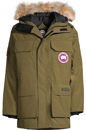 Canada Goose Men's Expedition Coyote Fur-Trim Military Down Parka - - Size XL