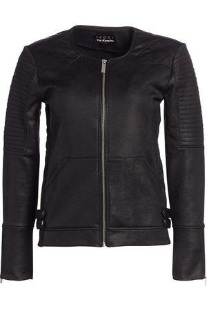 The Kooples Women's Faux Leather Moto Jacket - - Size Large