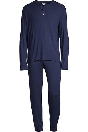 Eberjey Men's Henry 2-Piece Henley Pajama Set - - Size Small