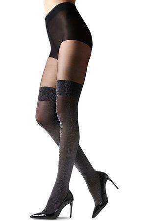 Natori Women's Metallic Opaque Stocking Tights - - Size Medium-Large