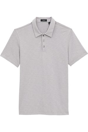 THEORY Men's Cosmo Regular-Fit Polo Shirt - Smoke - Size Small