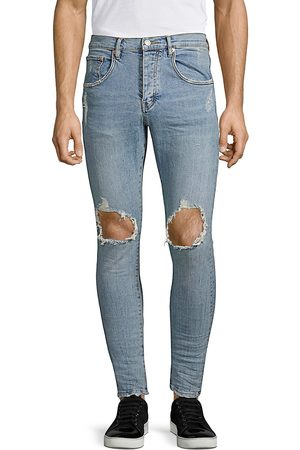 Purple Brand Men's P002 Slim Dropped Fit Ripped Jeans - - Size 36