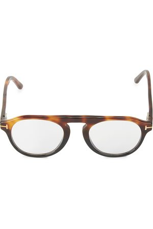 Tom Ford Men's 49MM Round Blue Block Optical Glasses