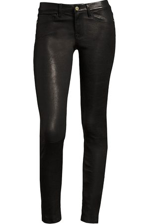 Frame Women's Le Skinny de Jeanne Mid-Rise Leather Pants - - Size 26 (2-4)