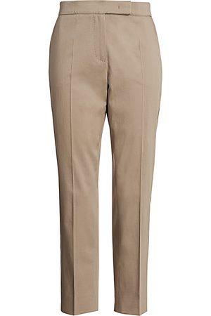 Max Mara Women's Luana Stretch Cotton Slim-Fit Pants - - Size 14