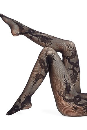 Natori Women's Dragon Toss Net Tights - - Size XL