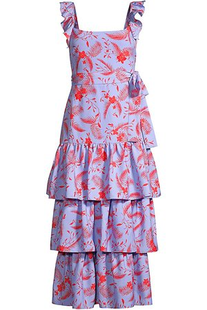 LIKELY Women's Juno Floral Tiered Dress - Periwinkle - Size 00