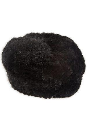 The Fur Salon Women Hats - Women's Knit Mink Fur Hat